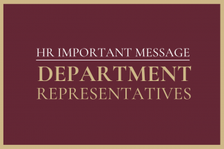 Message to Department Representatives